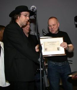 Ásgeir Óskarsson heiðursfélagi blúsfélagsins árið 2008